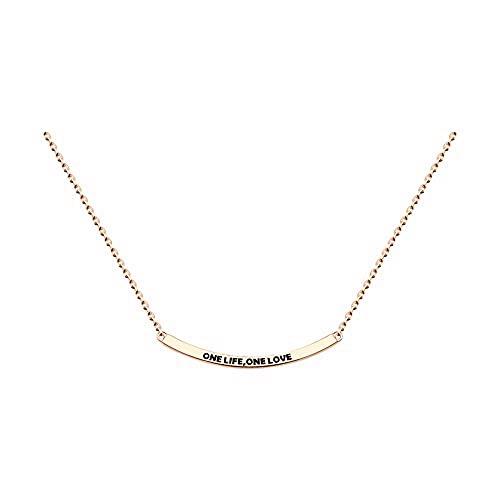 Mirkada - Collar de plata para mujer, chapado en oro, 40/45 cm