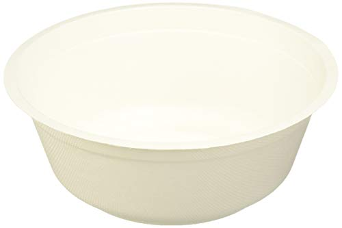 B-KIND Durable Bagasse Eco-Friendly Rice Bowls 32Oz Pack Of 50 Bowls - Microwave Safe, Compostable, Made From Sugercane Fibers (50 Count, 32Oz)
