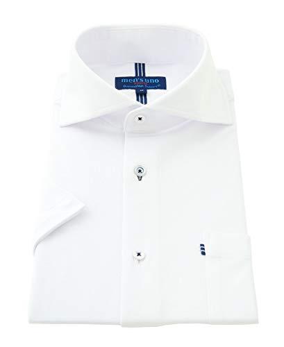 ビジネスマンサポート men's uno ワイシャツ 半袖 ストレッチ ポロシャツ 形態安定加工 メンズ ポロシャツ スポーツシャツ 鹿の子 3hws-ホリゾンタル L
