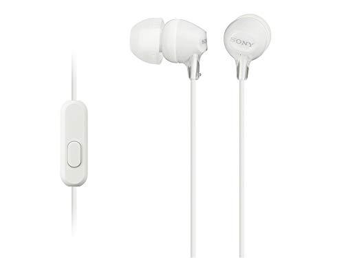 Sony MDREX14APB Audífonos intrauditivos de Silicón, color Blanco