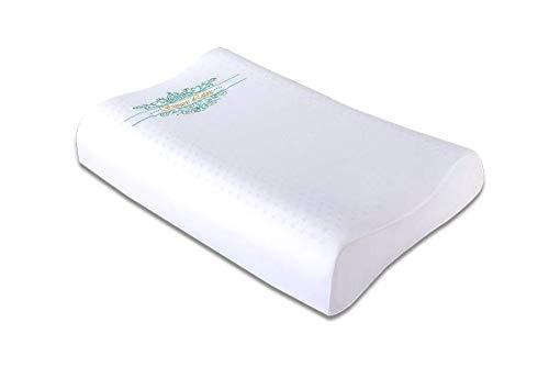 Suvarn F1 Naturlatex Kissen - Bio Latex, ideal für Nackenschmerzen, Reisen, Tiefschlaf (Flat-60x40x10_12CM)