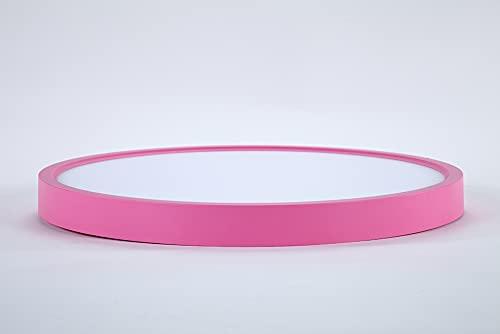 TALOYA - Lampara de Techo color Rosa 24w, Luz Neutra 4000k