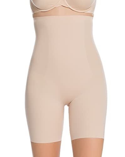 SPANX Shapewear for Women Lightweight Layer High-Waisted Mid-Thigh Shaping Short (Regular and Plus Sizes) Soft Nude MD One Size