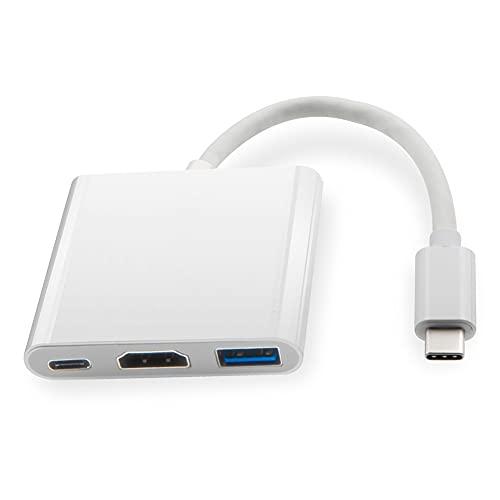 Likense Adaptador USB C a HDMI compatible con MacBook Pro/Air 3 USB tipo C Hub a HDMI compatible con 4K USB 3.0 Puerto USB-C Entrega de alimentación