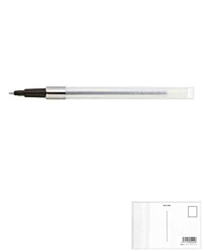 三菱鉛筆 ボールペン替芯 SNP-5.24 黒 【× 4 本 】 + 画材屋ドットコム ポストカードA