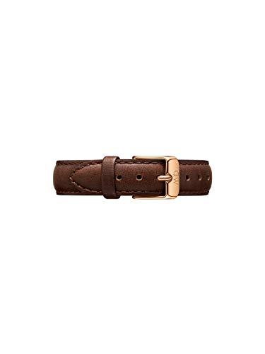 Daniel Wellington Petite Bristol, Correa Reloj Marrón/Plateado, 14mm, Cuero, para Mujer