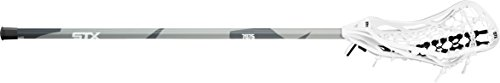 STX Lacrosse Women's Fortress 300 Complete Stick with Head, Handle & Strung, White/Grey