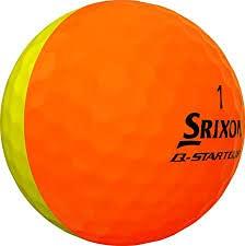 Srixon Q-Star Tour Divide-Orange Yellow-Dozen