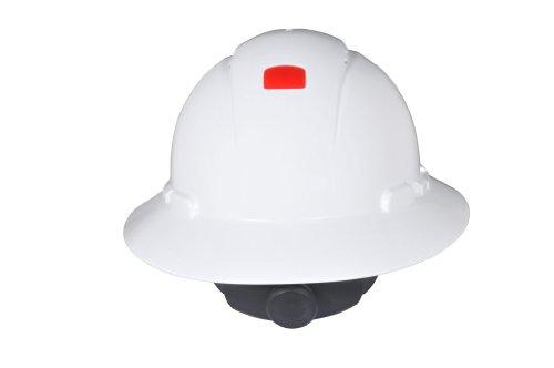 3M Full Brim Hard Hat H-801V-UV, White 4-Point Ratchet Suspension, Vented, with Uvicator