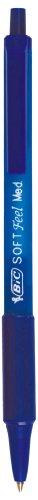 BIC Impresión Bolígrafo BIC tacto suave, de clic, 0,4mm, color azul
