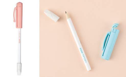 レイメイ KM135 パステル ピンク KUM Tip Top Popキャップ型削り器+消しゴム+鉛筆が1セット