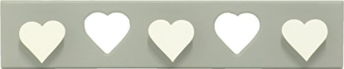 Sonpó Online   Modelo AFA28   Perchero triple infantil de pared de    Hecho a mano de manera artesanal   Color gris y colgantes en blanco