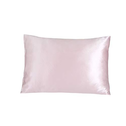 Jasmine Silk Kissenbezug, 100% 19 Momme Charmeuse Seide Kissenbezug Rosa 50x75cm