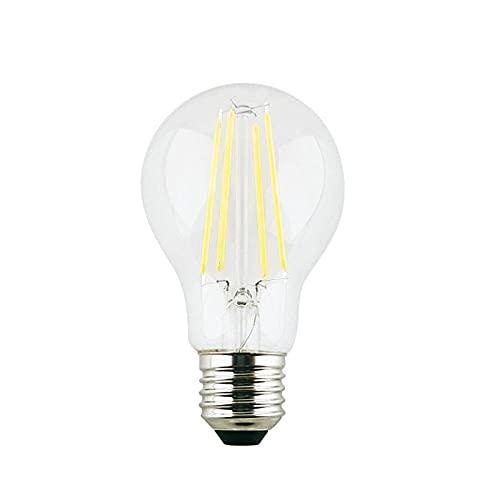 Bombilla Ledlámpara De Bombilla De Vidrio Transparente Bombilla De Filamento Led Lámpara De Ahorro De Energía De Alto Brillo Para El Hogar Iluminación Interior-6500K_12W