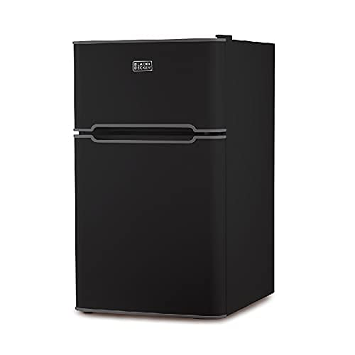 BLACK+DECKER 2 Door Mini Fridge with Separate True Freezer – Small, Compact Refrigerator for Drinks and Food in Dorm, Office, Apartment, or RV Camper - 3.1 Cubic Feet, Black …