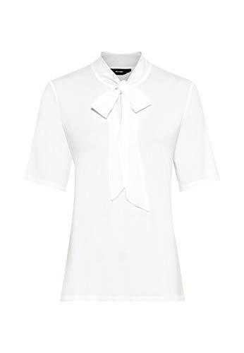HALLHUBER T-Shirt mit Seidenschluppe leicht tailliert Offwhite, XL