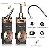 Getaria Wireless Guitar System Rechargeable Digital Transmitter Receiver Set for Electric Guitar Bass with 3.5mm to 6.35 mm (1/4 inch) Male to...