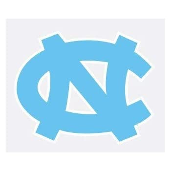 North Carolina Tarheels NC in Blue 4 Vinyl Decal Car Truck Window Sticker UNC