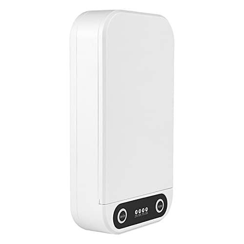 B Blesiya Caja desinfectante de teléfono con luz LED UV C para el hogar y la joyería del teléfono móvil auriculares para los hombres familiares