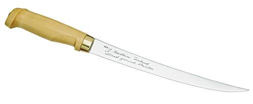 Marttiini Erwachsene Messer Finnisches Filetiermesser Holzgriff Gesamtlänge: 35.5 cm Anglermesser, Mehrfarbig, One Size