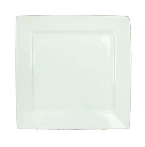 Visiodirect Lot de 6 Assiettes carrées Plume - 24 x 24 cm