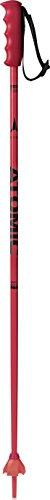ATOMIC Redster Jr 1 Par de Bastones de esquí, Aluminio, Niños, Rojo/Negro, 105 cm