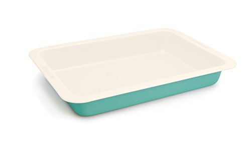 GreenLife 9 Inch x 13 Inch Non-Stick Ceramic Oblong Cake Pan, Turquoise by The Cookware Company.
