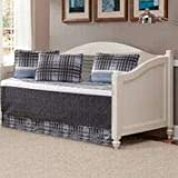 Kids Zone Home Linen 5 Piece Daybed Charcoal White Light Grey Stripe Plaid Pattern Unisex Bedspread