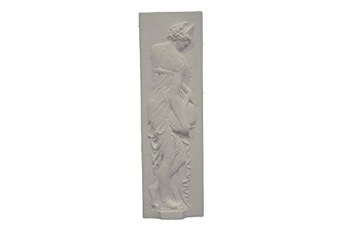 La Stafferie Bas Relief nymphe décoration Murale, plâtre, 29 x 39 x 3, Style gréco-Romain, Blanc