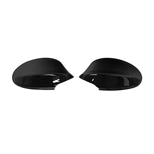 XUNLAN Durable 1 par Vista Trasera Espejo Tapas de Cubierta Ajuste para BMW E90 E91 325i 328i 330i Sedan 2005-2008 Cubiertas de Espejo Lateral Negro Brillante Wearable (Color : Gloss Black)