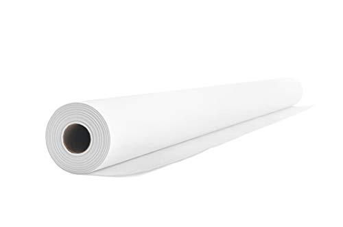 Airlaid Rollo de mantel, 1,2 m x 24 m, rollo de mantel, tela similar a la tela, boda, bautizo, cumpleaños, comunión, catering, hotel, gastronomía, calidad premium, Blanco, 1 Tischdeckenrolle