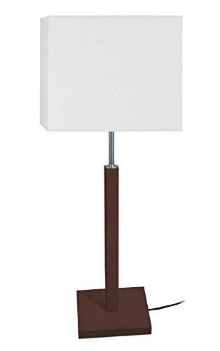 Tosel 63647 tafellamp, Frigga, beukenhout, poly-lak, lampenkap katoen, E27, 60 W, Wanguee