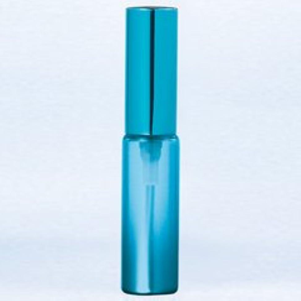 アブストラクト対称魅惑的な【ヤマダアトマイザー】グラスアトマイザー プラスチックポンプ 無地 60402 メタリックグラデ ブルー アルミキャップ ブルー 4ml