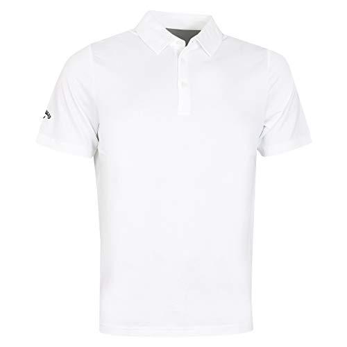 Callaway Golf Swingtech Solid Stretch Polo de Golf pour Homme Bright White XL