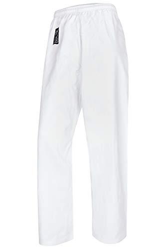 Bay Basic Hose weiß, Karatehose, 8 UZ, 100% (170 - M)