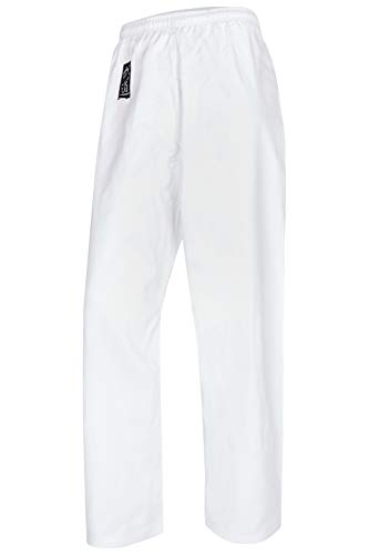 Bay Basic Hose weiß, Karatehose, 8 UZ, 100% Baumwolle, (180 - L)