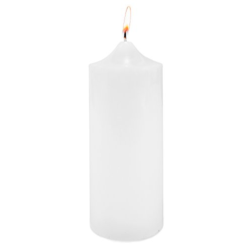 Super Z Outlet 3' x 9' Unscented White Pillar Candle for Weddings, Home Decoration, Spa, Relaxation, Smokeless Cotton Wick. (1 Candle)