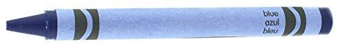 50 Blue Crayons Bulk - Single Color Crayon Refill - Regular Size 5/16' x 3-5/8'