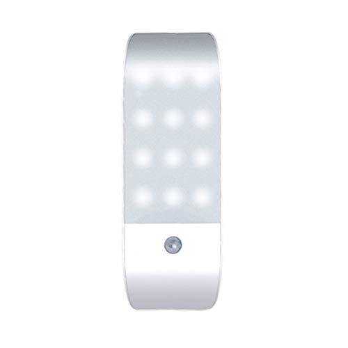 OSALADI 2 Piezas Lámpara Nocturna Cuerpo Sensor Usb Carga Infrarroja Lámpara Inteligente Luz Nocturna para Buhardilla Escalera Pasillo Sótano Armario (Luz Blanca)