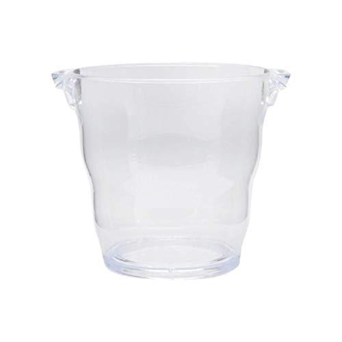 WZHZJ Kunststoff-EIS-Eimer Eiskübel Plexiglas Geeignet for bis zu 2 Wein oder Champagner-Flaschen Eiskübel