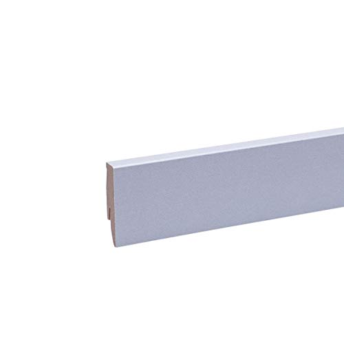Sockelleiste - Fußleiste 60 x 20 x 2.600mm Dekor Edelstahl