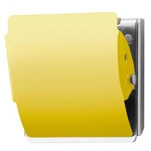 プラス マグネットクリップ CP-047MCR L 黄 10個 〈簡易梱包