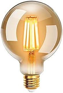 EXTRASTAR Bombilla Vintage LED E27, 4W Equivalente a 40W 400LM, Luz Cálida 2200K, No Regulable -1pc