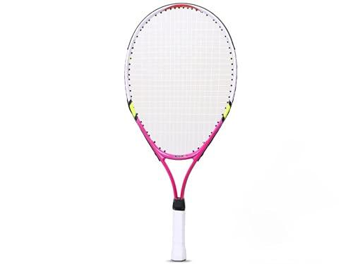 ALTRUISM Raqueta de Tenis 1 Pieza Raqueta de Tenis para Adolescentes y niños Adecuada para Principiantes de Tenis (23 Inch Pink)