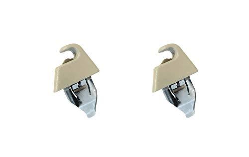 AutoCommerse Par de 2 soportes de montaje para parasol con gancho para Astra H, Zafira B, Vectra C Signum, accesorios de coche