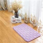 WEATLY Korallenroter Samt gesteppter achteckiger Teppich Rutschfester vakuumweich Teppichboden Wohnzimmer Schlafzimmer Küche Decke (Farbe : Rose rot, Size : 40cm*60cm)