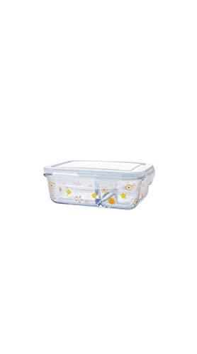TYZP Caja de Almuerzo Rectangular Compartimiento de Vidrio para el Almuerzo, Caja de Almacenamiento para refrigerador, crimpadora sellada