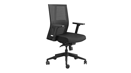 GODREJ INTERIO Plastic Pulse Aero Mesh Back Office Chair with Adjustable Armrest and Synchro Mechanism, Black