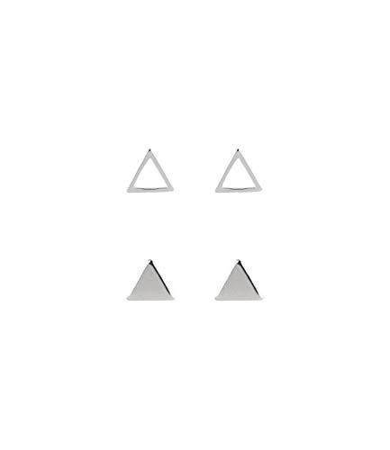 TOSH Juego de pendientes de plata 925 con motivos triangulares (1000819)