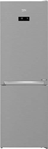 Beko RCNA366E60XBN - Frigorifero freezer, senza congelatore, con apertura della porta a 90°, 0°C, display multifunzione, effetto acciaio INOX